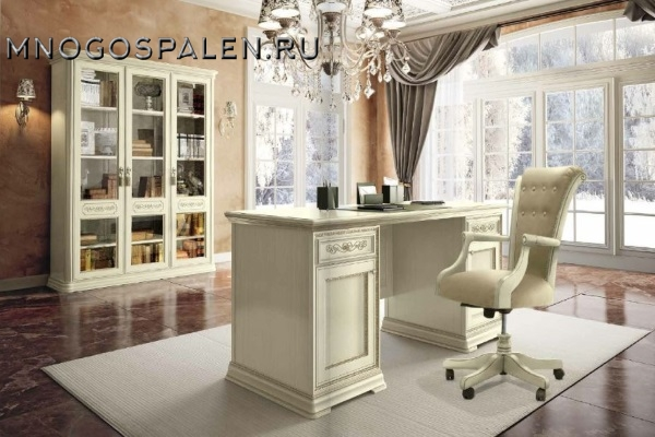 КАБИНЕТ TORRIANI AVORIO Camelgroup композиция 3 купить в салоне-студии мебели Барселона mnogospalen.ru много спален мебель Италии классические современные