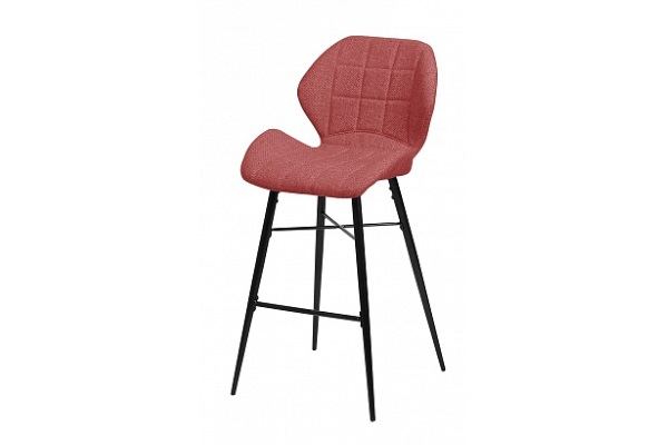 Барный стул MARCEL TRF-04 красный, ткань М-City купить в салоне-студии мебели Барселона mnogospalen.ru много спален мебель Италии классические современные