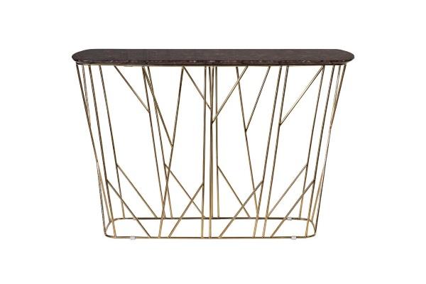 Консоль искусственный коричневый мрамор/хром 57EL-CST393 купить в салоне-студии мебели Барселона mnogospalen.ru много спален мебель Италии классические современные